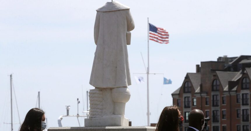 #VOA: Columbus Statue Decapitated in Waterbury Amid Protests. #VOANews