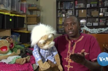 #VOA: Kenyan Puppeteer 'Pulling Strings' to Educateon COVID-19. #VOANews